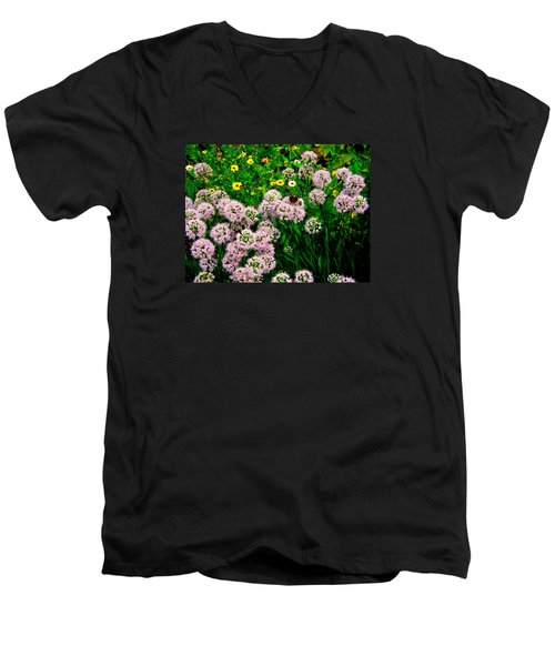 Men's V-Neck T-Shirt featuring the photograph Summer Song by Zafer Gurel