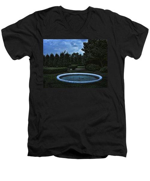 Summer Storm Coming Bahai Temple Men's V-Neck T-Shirt