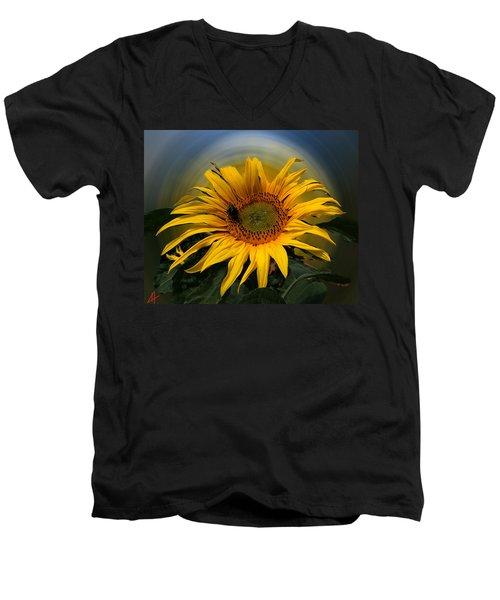 Sun Flower Summer 2014 Men's V-Neck T-Shirt