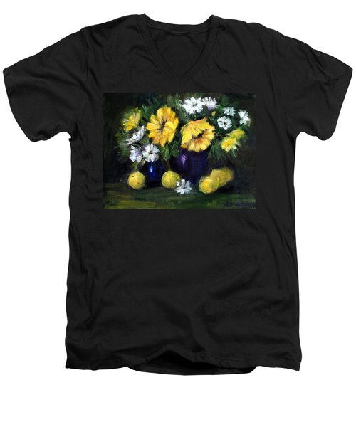 Sun Flowers Men's V-Neck T-Shirt