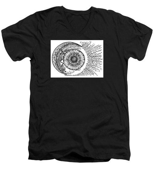 Sun Moon And Stars Men's V-Neck T-Shirt
