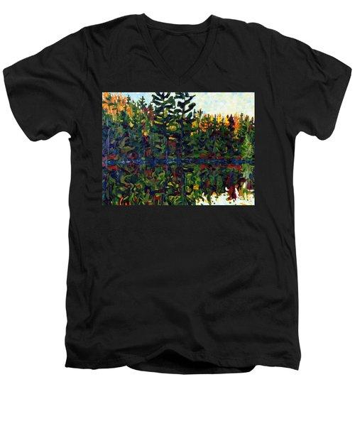 Sun Of Shore Sunrise Men's V-Neck T-Shirt