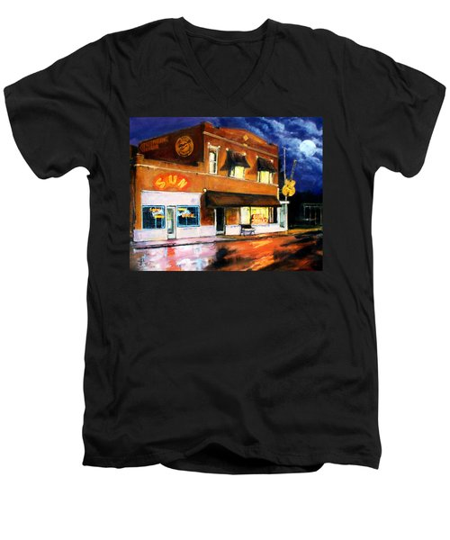 Sun Studio - Night Men's V-Neck T-Shirt