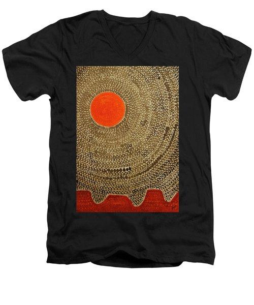 Sun Valley Original Painting Men's V-Neck T-Shirt