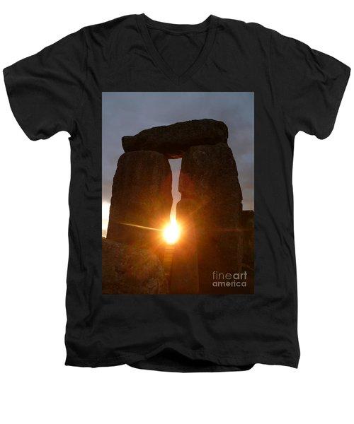 Sunburst Men's V-Neck T-Shirt by Vicki Spindler