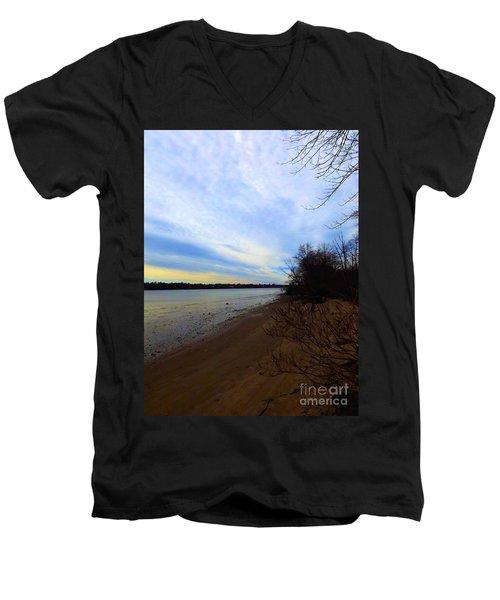 Sundown By The Side Of The River Men's V-Neck T-Shirt