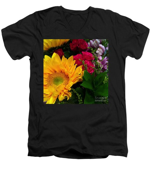 Sunflower Reflections Men's V-Neck T-Shirt