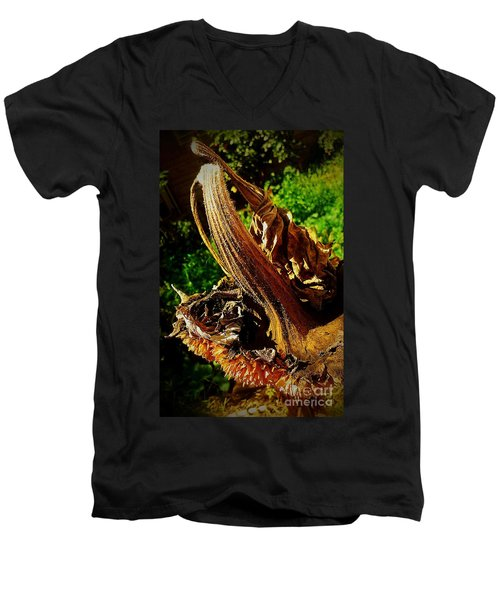 Men's V-Neck T-Shirt featuring the photograph Sunflower Seedless 2 by James Aiken