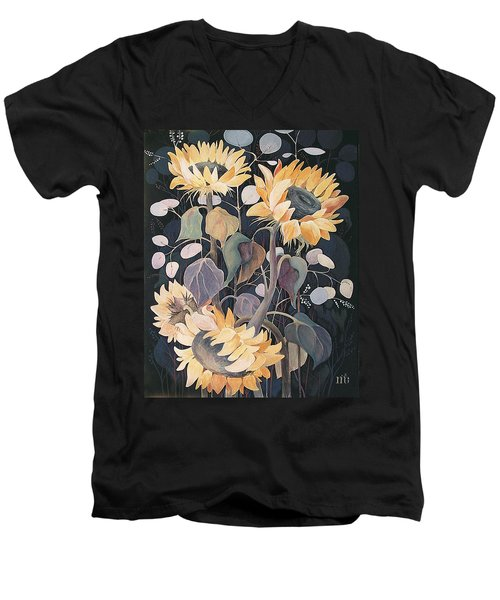 Sunflowers' Symphony Men's V-Neck T-Shirt