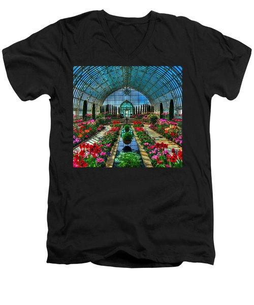 Sunken Garden Marjorie Mc Neely Conservatory Men's V-Neck T-Shirt