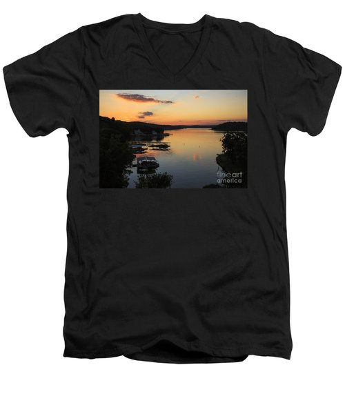 Sunrise At Lake Of The Ozarks Men's V-Neck T-Shirt