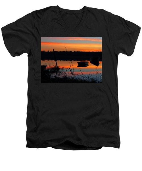 Men's V-Neck T-Shirt featuring the photograph Sunrise Cove  by Dianne Cowen