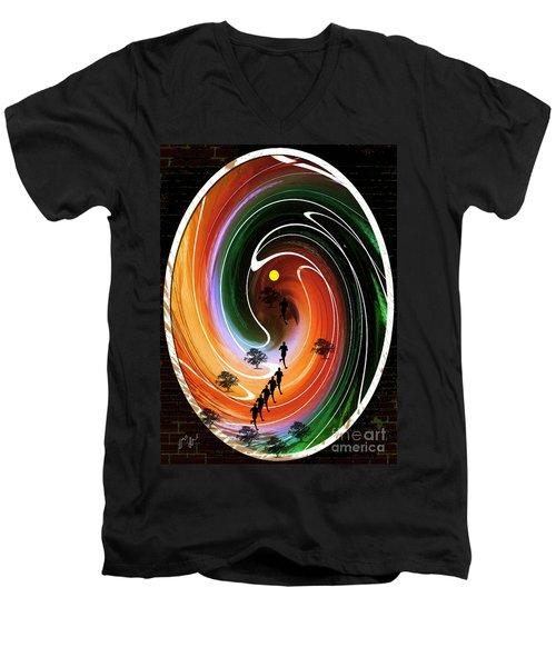 Sunrise Joggers  Men's V-Neck T-Shirt