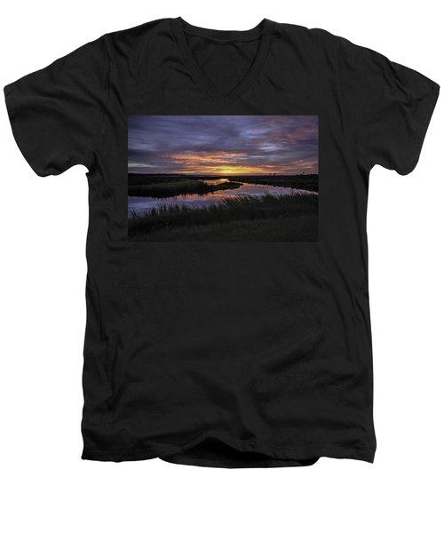 Sunrise On Lake Shelby Men's V-Neck T-Shirt