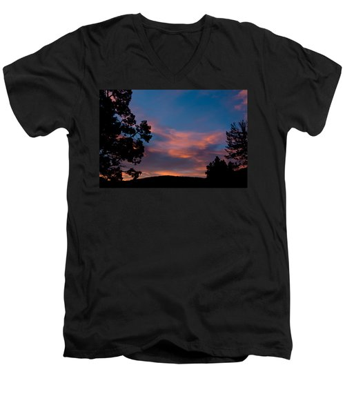 Sunrise Over Mammoth Campground Men's V-Neck T-Shirt