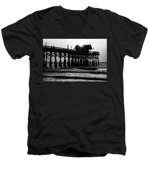 Sunrise Over Pier Men's V-Neck T-Shirt
