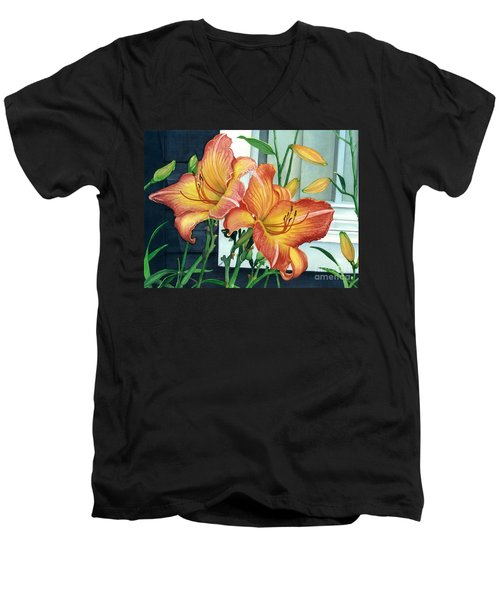 Sunrise-sunset Men's V-Neck T-Shirt