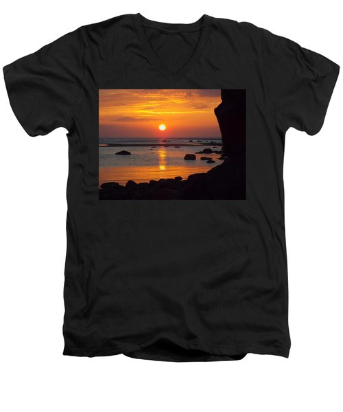 Men's V-Neck T-Shirt featuring the photograph Sunrise Therapy by Dianne Cowen