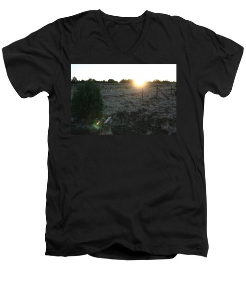 Men's V-Neck T-Shirt featuring the photograph Sunrize by David S Reynolds