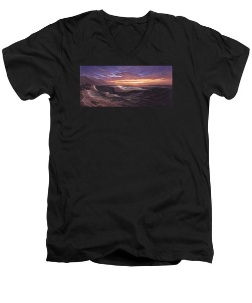 Sunset At Big Sur Men's V-Neck T-Shirt
