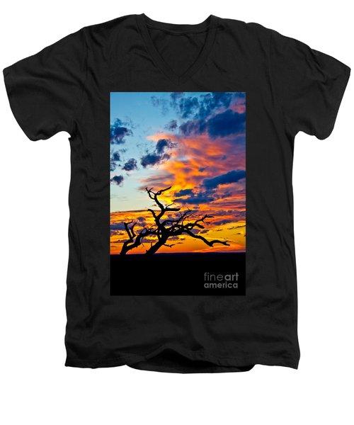 Sunset At Enchanted Rock Men's V-Neck T-Shirt
