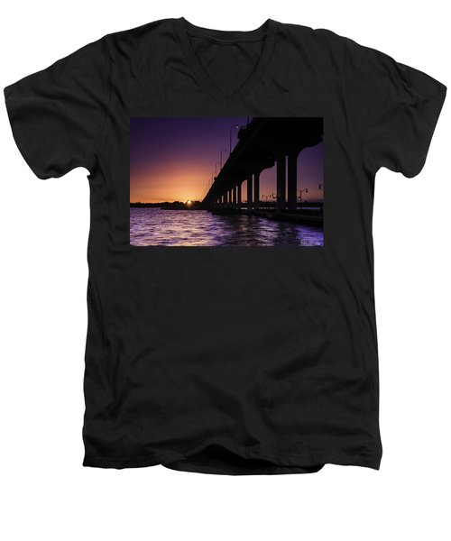 Sunset At Jensen Beach Men's V-Neck T-Shirt
