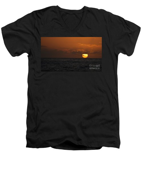 Sunset At St Ives Men's V-Neck T-Shirt