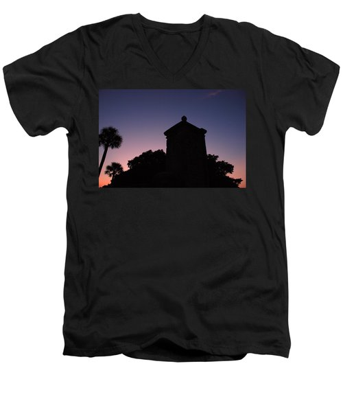 Sunset At The Gate Men's V-Neck T-Shirt