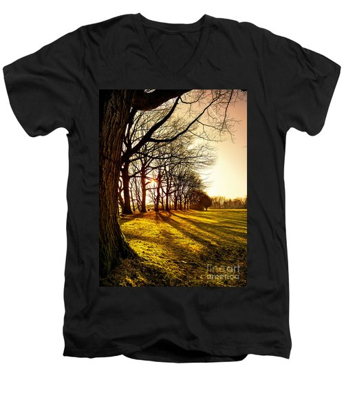 Sunset At The Park Men's V-Neck T-Shirt