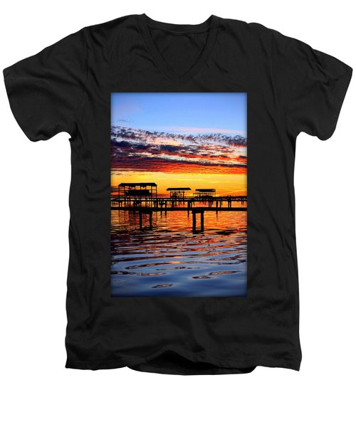 Sunset Breeze Men's V-Neck T-Shirt