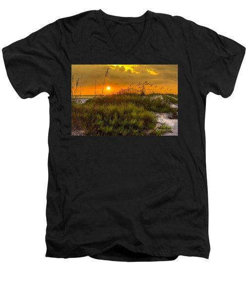 Sunset Dunes Men's V-Neck T-Shirt by Marvin Spates