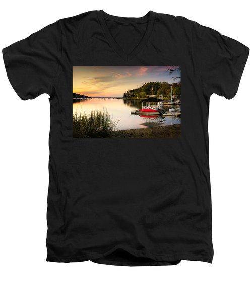 Sunset In Centerport Men's V-Neck T-Shirt