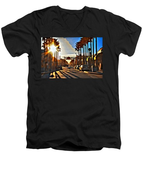 Sunset In Daytona Beach Men's V-Neck T-Shirt