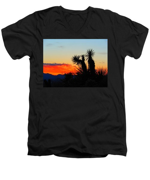Sunset In Golden Valley Men's V-Neck T-Shirt