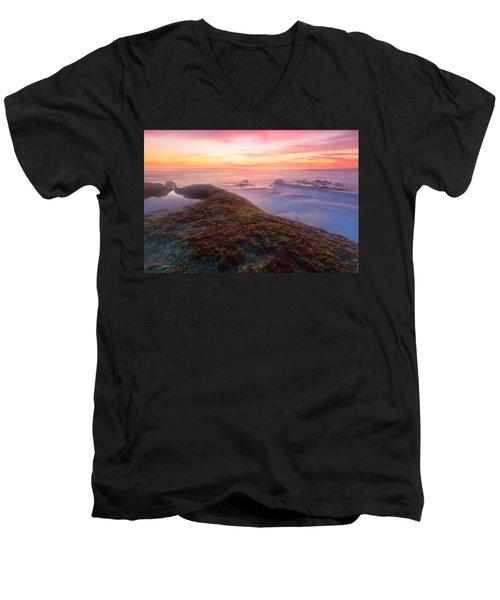 Sunset In La Jolla Men's V-Neck T-Shirt