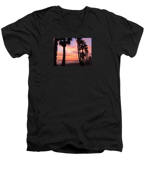 Sunset In San Clemente Men's V-Neck T-Shirt