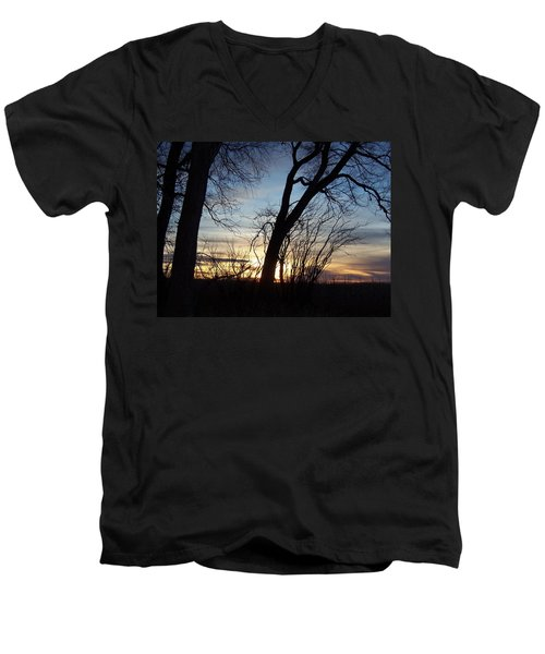 Idaho Sunset 1 Men's V-Neck T-Shirt