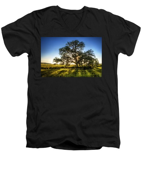 Sunset Oak Men's V-Neck T-Shirt
