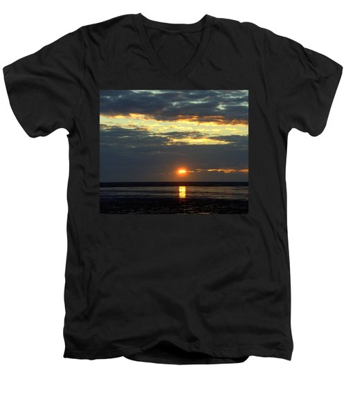Sunset On A Cloudy Evening Men's V-Neck T-Shirt