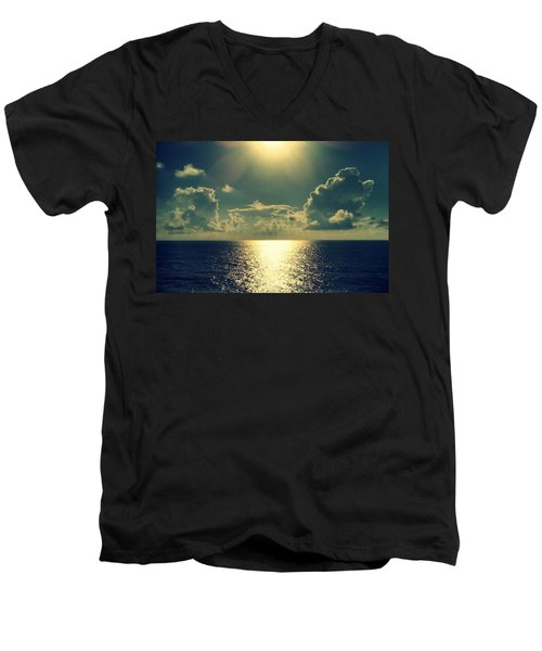 Sunset On The Atlantic Ocean Men's V-Neck T-Shirt