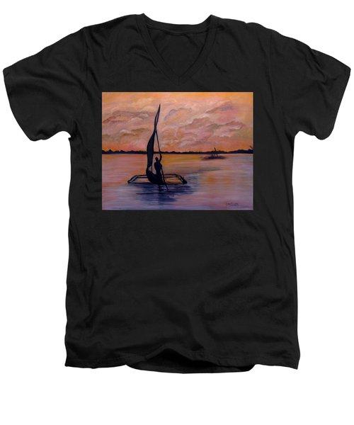 Sunset On The Nile Men's V-Neck T-Shirt