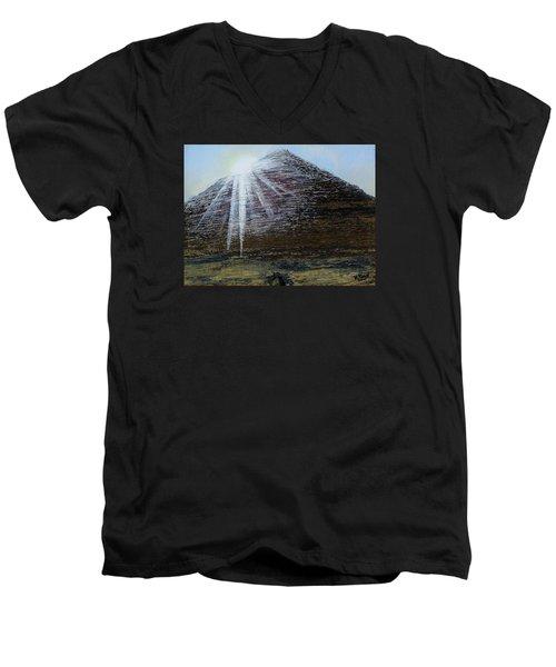Sunset Over Khufu Men's V-Neck T-Shirt by Raymond Perez