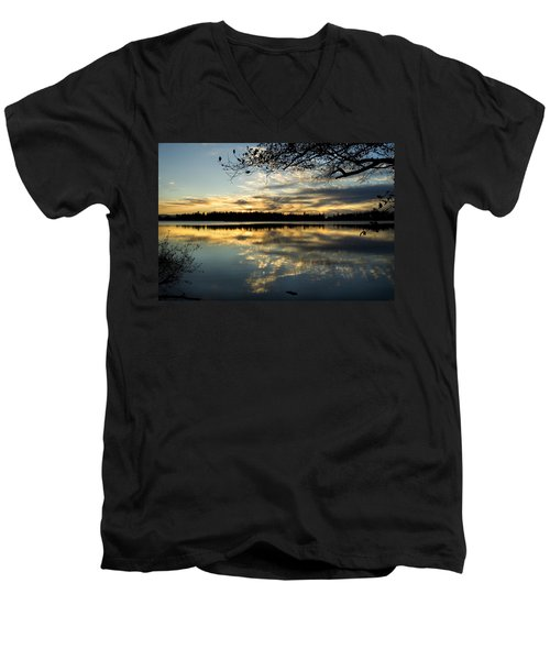 Sunset Reflection Men's V-Neck T-Shirt
