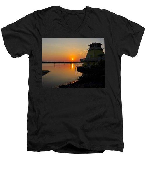 Sunset Reflections Men's V-Neck T-Shirt by Jim Brage