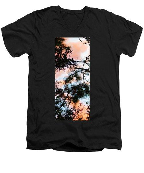 Sunset Through The Trees Men's V-Neck T-Shirt