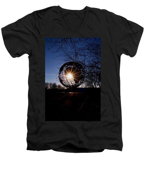 Sunset Through The Unisphere Men's V-Neck T-Shirt