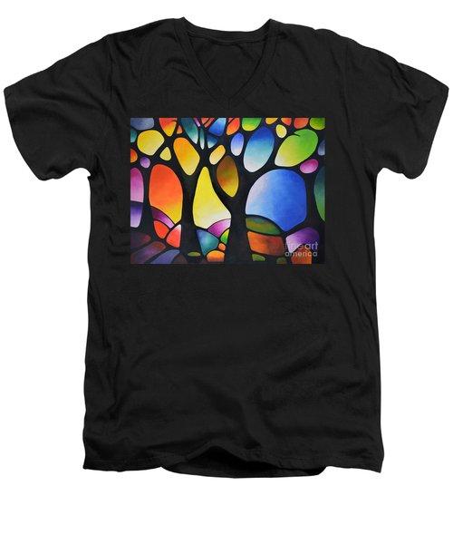 Sunset Trees Men's V-Neck T-Shirt