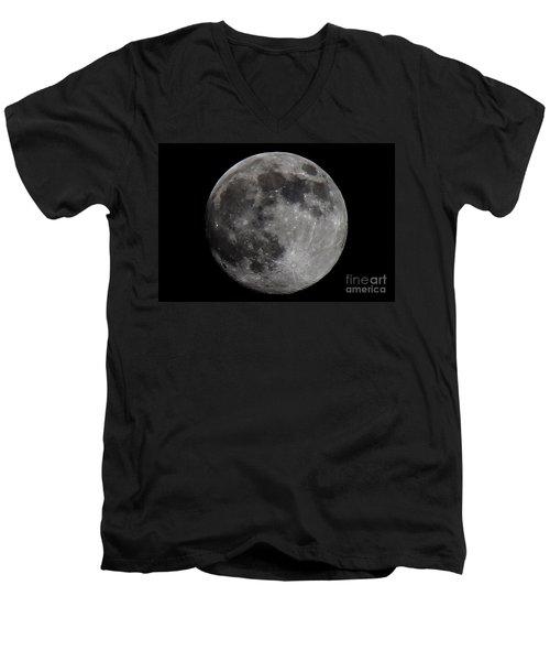 Super Moon 2014 Men's V-Neck T-Shirt