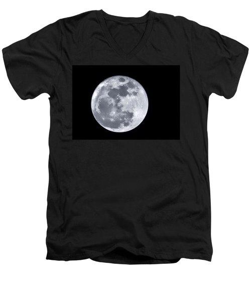 Super Moon Over Arizona  Men's V-Neck T-Shirt by Saija  Lehtonen