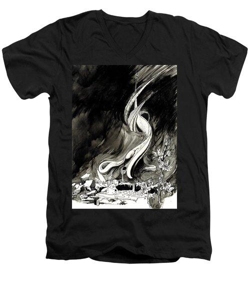 Surprise Men's V-Neck T-Shirt by Julio Lopez